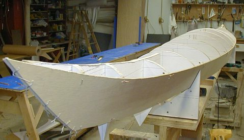 Hybrid Cirrus: Stitch & glue kayak with wood strip deck ...