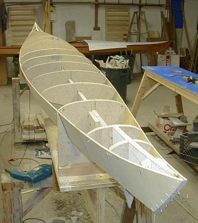 Hybrid Cirrus: Stitch & glue kayak with wood strip deck - particulars