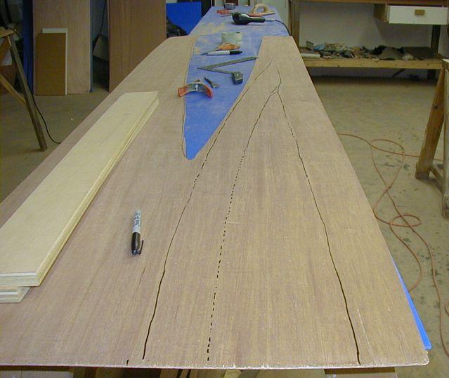 Transfer of Stitch & Glue plans onto plywood