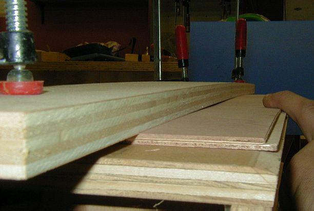 Gluing Scarfed Okume Plywood Sheets Together
